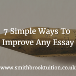 How to improve an essay