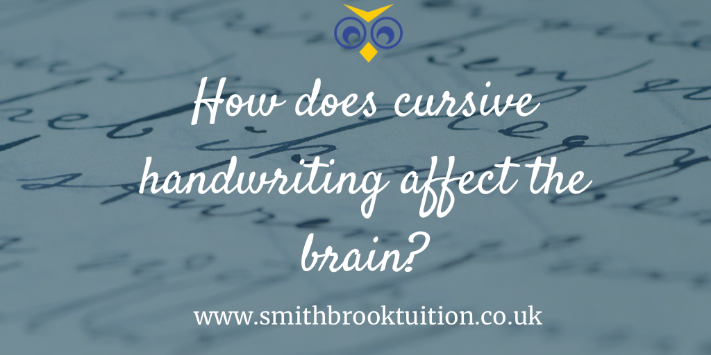How does cursive handwriting affect the brain?
